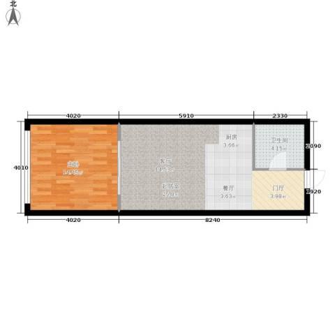 阳光星座1室0厅1卫0厨48.00㎡户型图
