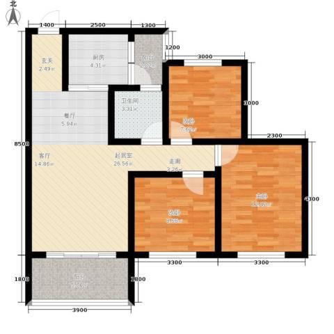 金桥新城3室0厅1卫1厨90.00㎡户型图