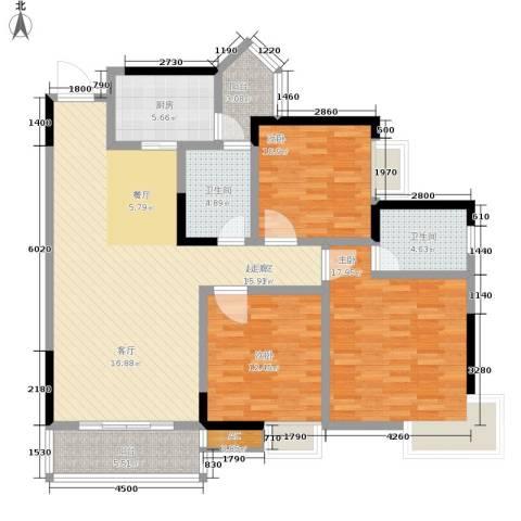 金玉满堂城市花园3室0厅2卫1厨120.00㎡户型图
