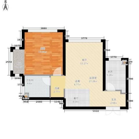 金地经典1室0厅1卫1厨62.00㎡户型图