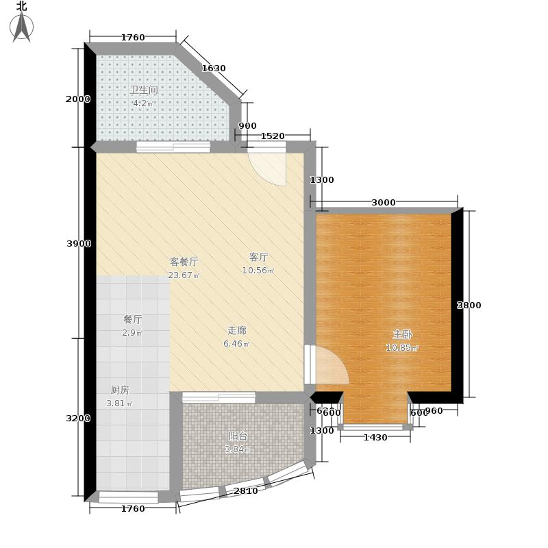 兰波红城丽景37.40㎡C-1、D-1-1面积3740m户型