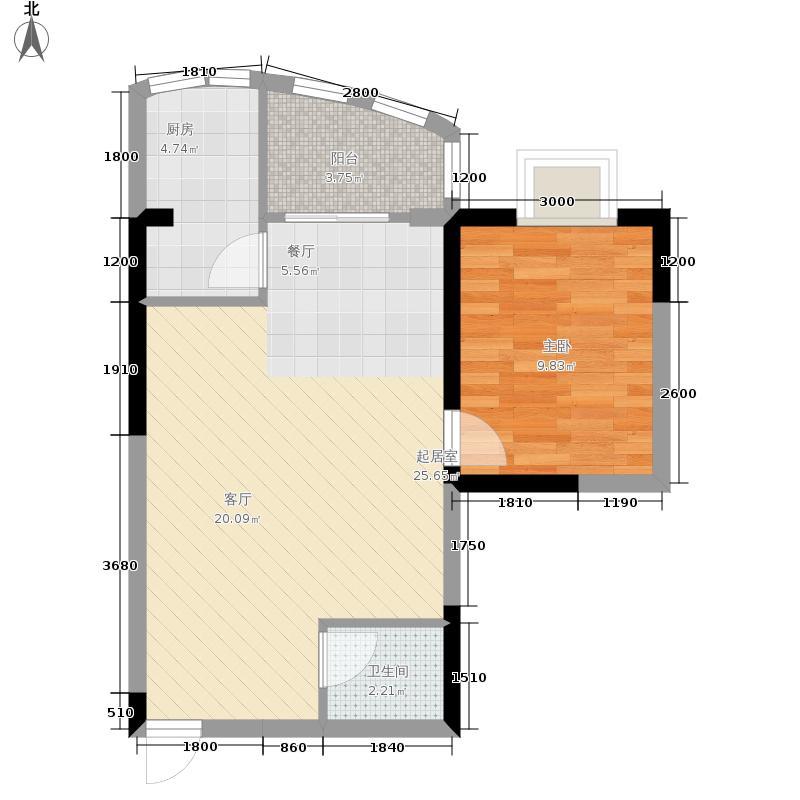 兰波红城丽景49.25㎡C-1、D-11面积4925m户型