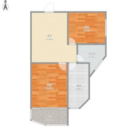 福建路29号2室1厅1卫1厨62.00㎡户型图