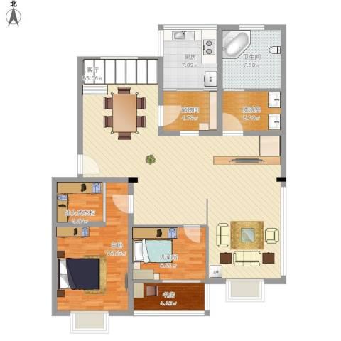 文昌花园3室1厅1卫1厨158.00㎡户型图