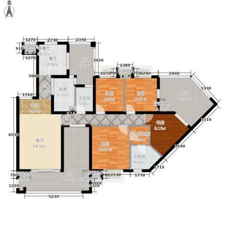 招商江湾城4室1厅2卫1厨156.00㎡户型图
