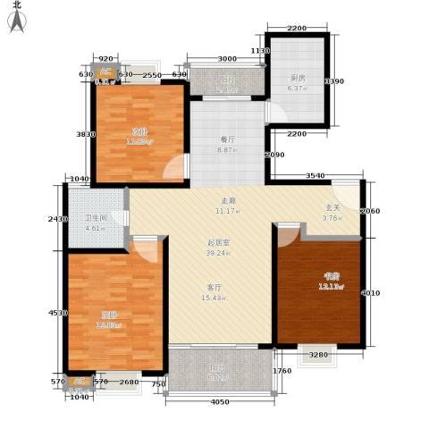 恒大华城天地苑3室0厅1卫1厨113.00㎡户型图