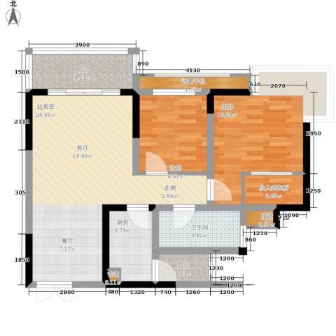 仁有逸景2室0厅1卫1厨90.00㎡户型图