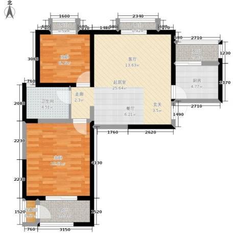 北京御湖湾2室0厅1卫1厨93.00㎡户型图