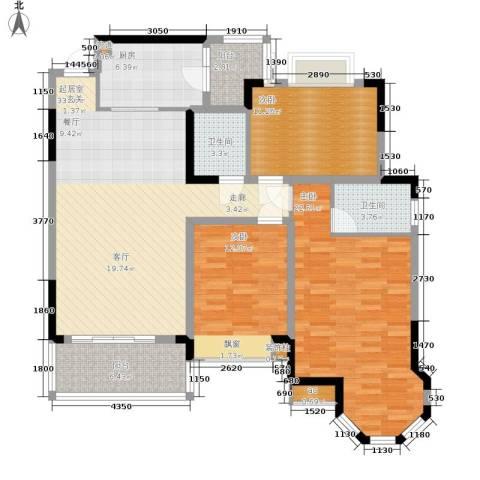 恒大华府3室0厅2卫1厨108.00㎡户型图