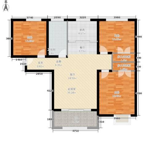 壹城公馆3室0厅1卫1厨115.00㎡户型图