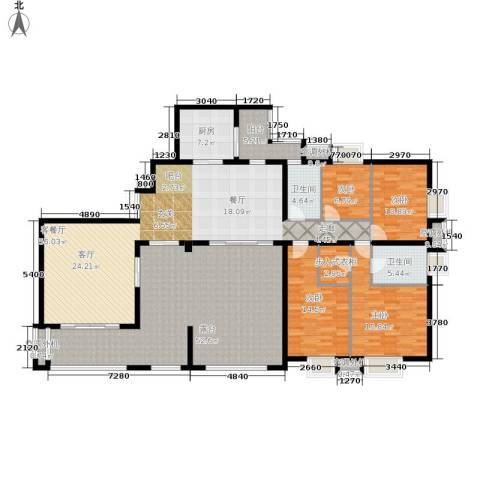 招商江湾城4室1厅2卫1厨208.00㎡户型图