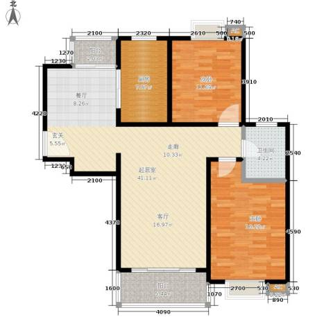 恒大华城天地苑2室0厅1卫1厨101.00㎡户型图