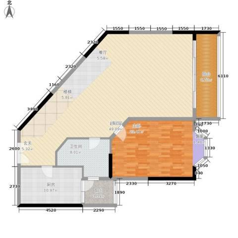 海客瀛洲1室0厅1卫1厨130.00㎡户型图