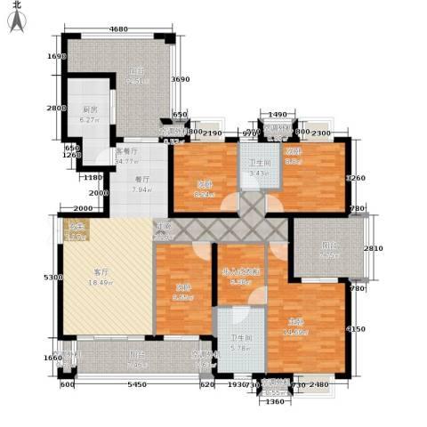 招商江湾城4室1厅2卫1厨148.00㎡户型图