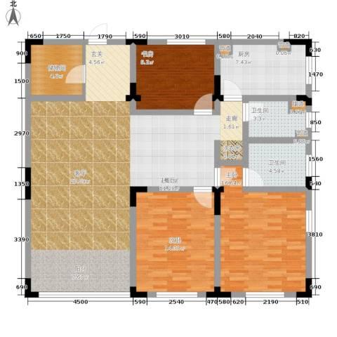长安华都3室0厅2卫1厨162.00㎡户型图