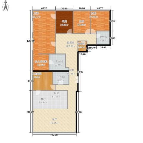当代万国城4室0厅3卫0厨296.00㎡户型图