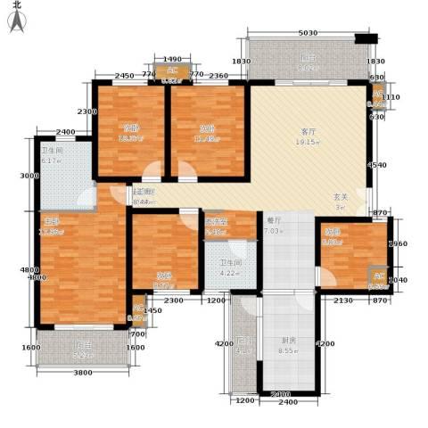 南方花园C区5室0厅2卫1厨193.00㎡户型图