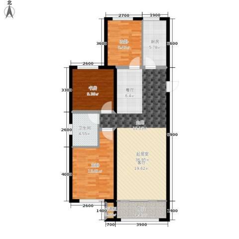 中红一品3室0厅1卫1厨118.00㎡户型图