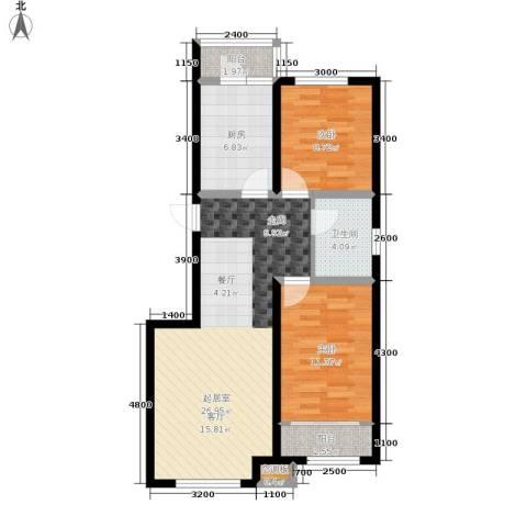 中红一品2室0厅1卫1厨91.00㎡户型图