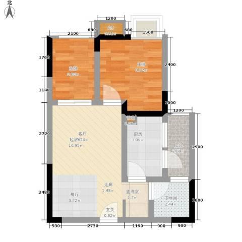 七彩景秀2室0厅1卫1厨53.00㎡户型图