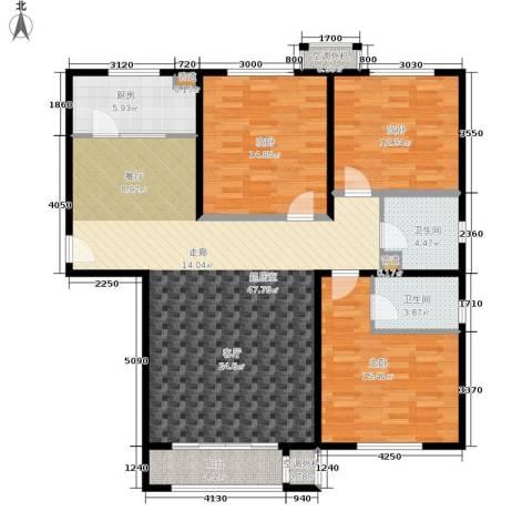 溪语蓝湾3室0厅2卫1厨121.00㎡户型图