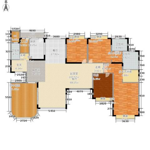 恒大华府4室0厅3卫1厨291.00㎡户型图