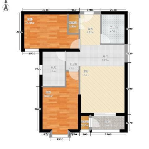 北京御湖湾2室0厅1卫1厨90.00㎡户型图