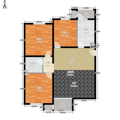 溪语蓝湾3室0厅1卫1厨111.00㎡户型图
