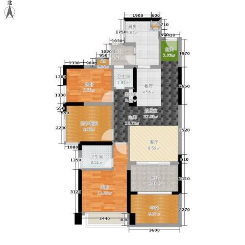 三远大爱城2室0厅2卫1厨87.00㎡户型图