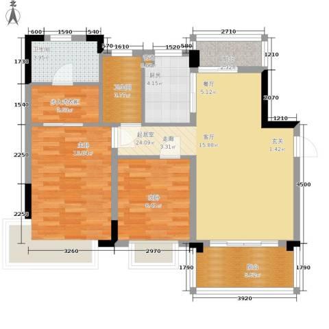 恒大华府2室0厅2卫1厨70.00㎡户型图