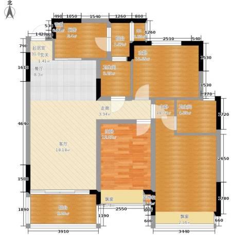 恒大华府3室0厅2卫1厨95.00㎡户型图