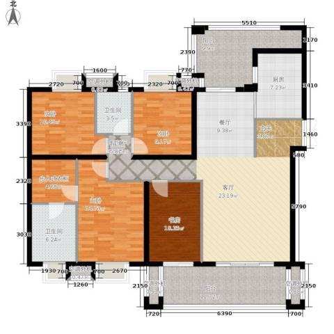 招商江湾城4室1厅2卫1厨153.00㎡户型图