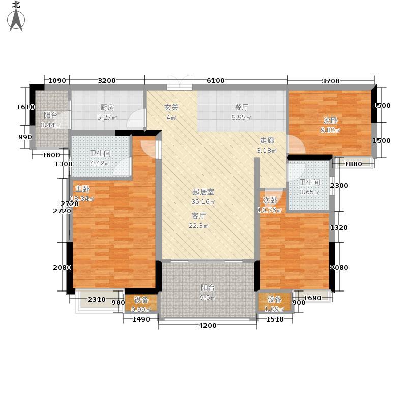 中渝山顶道国宾城104.00㎡一期1号楼标准层D2户型