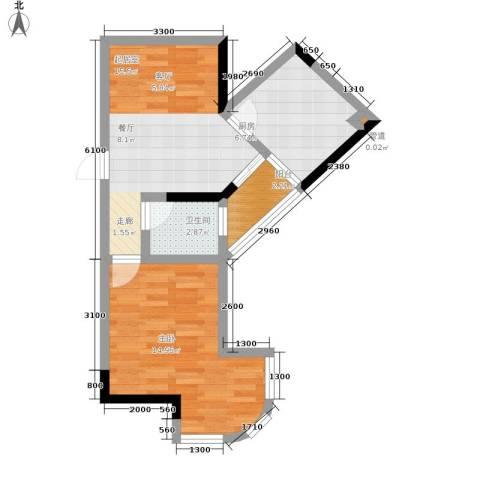 百康年拿铁城1室0厅1卫1厨47.00㎡户型图