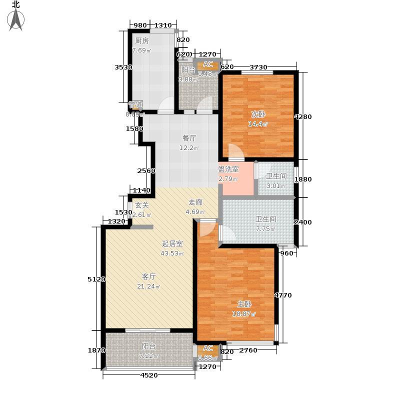 泰府名邸124.42㎡上海面积12442m户型