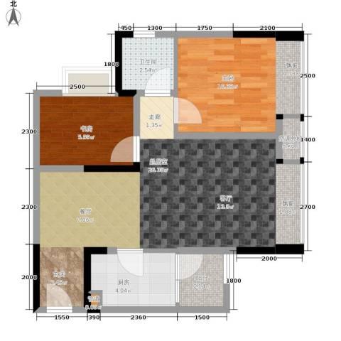 永缘城市交响2室0厅1卫1厨66.00㎡户型图