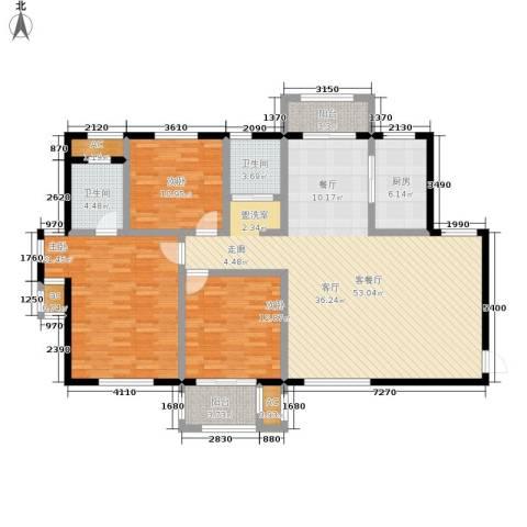 漯河建业壹号城邦3室1厅2卫1厨176.00㎡户型图