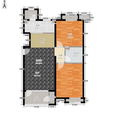 合景香悦四季2室0厅1卫1厨88.00㎡户型图