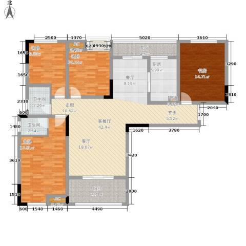 远洋高尔夫国际社区果岭洋楼4室1厅2卫1厨127.00㎡户型图