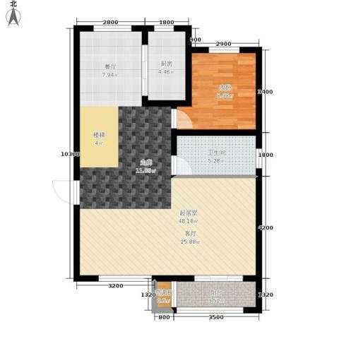 中红一品1室0厅1卫1厨100.00㎡户型图