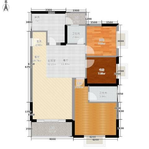 布克公馆3室0厅2卫1厨89.00㎡户型图