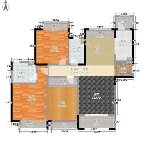 合景香悦四季2室0厅2卫1厨116.27㎡户型图