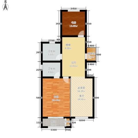 中红一品2室0厅2卫0厨117.00㎡户型图