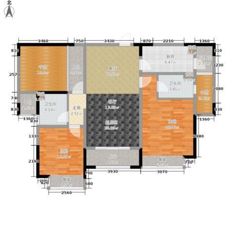 合景香悦四季2室0厅2卫1厨99.04㎡户型图