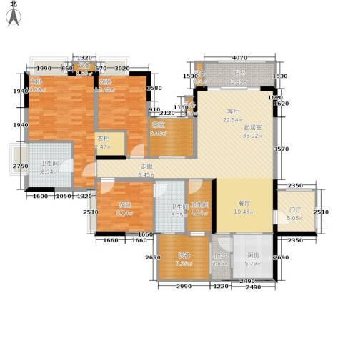 中渝山顶道国宾城3室0厅3卫1厨125.75㎡户型图