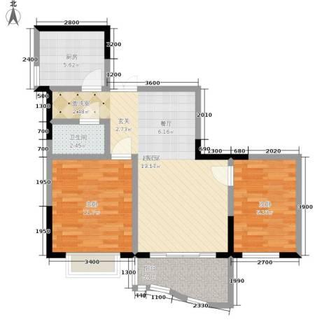 锦绣江南2室0厅1卫1厨65.00㎡户型图