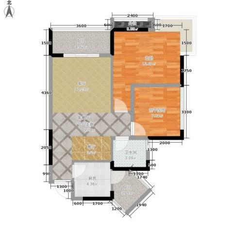 海德格调1室1厅1卫1厨74.00㎡户型图