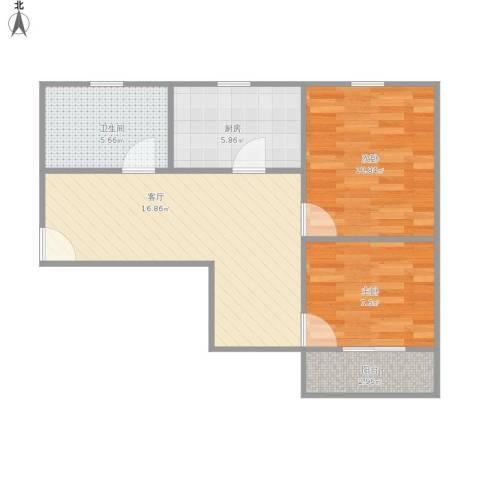 延吉东路137弄小区2室1厅1卫1厨68.00㎡户型图