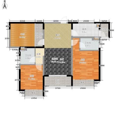 合景香悦四季2室0厅2卫1厨119.00㎡户型图