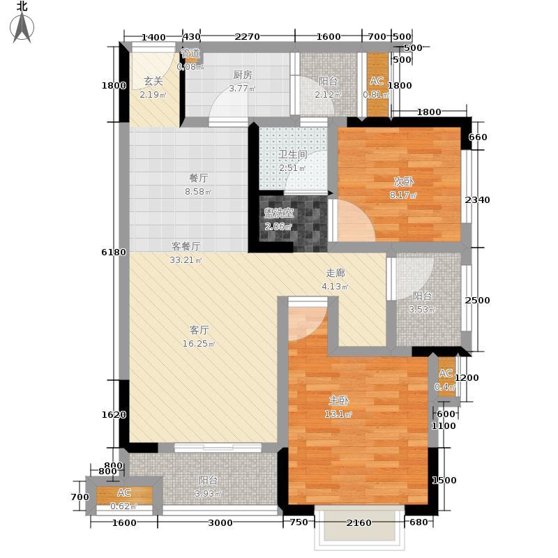 金科开州财富中心95.73㎡一期4号楼标准层D2户型